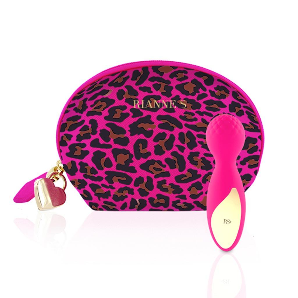 Rianne S  Lovely Luipaard Mini Wand Roze