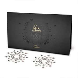 bijoux indiscrets tepel stickers zwart of zilver