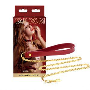 taboom bdsm ketting rood